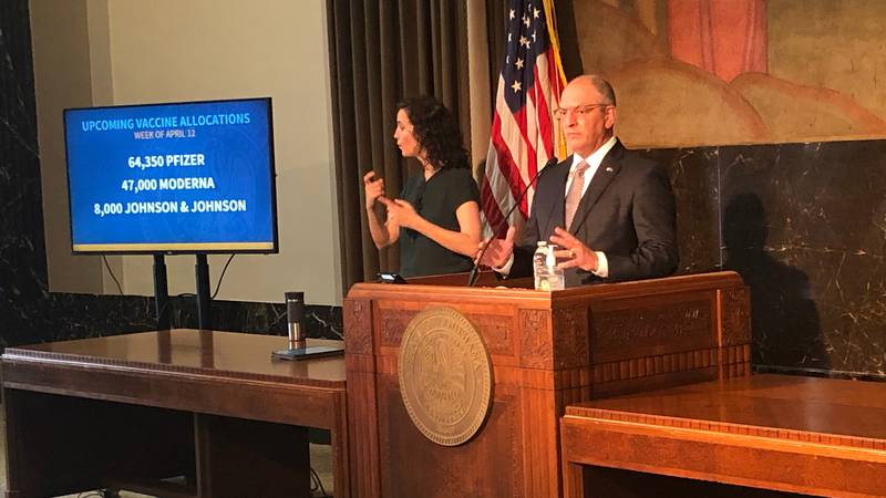 Louisiana Gov. John Bel Edwards speaks at a news conference about COVID-19 on Thursday, April...