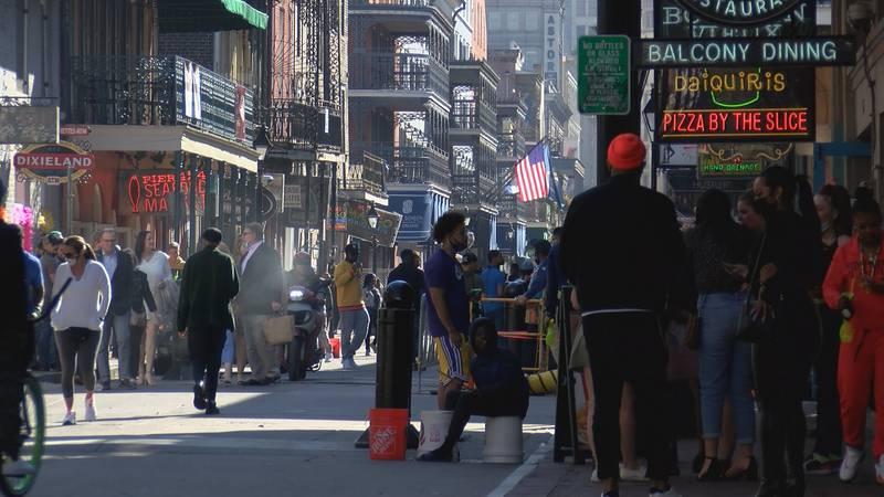 Crowded Bourbon Street