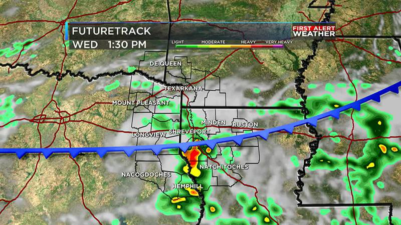 Tracking afternoon storms across the ArkLaTex