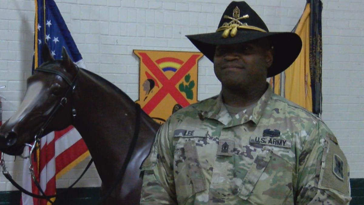 Troop First Sergeant Brandon Lee serves in the Louisiana National Guard