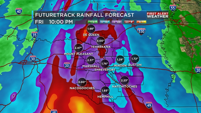 We are tracking an additional one to three inches of rain on the way for the ArkLaTex.