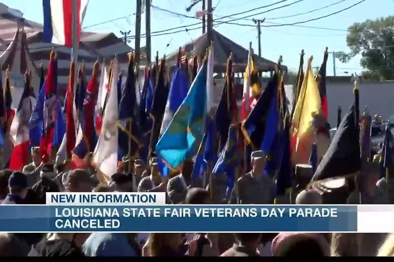 Louisiana State Fair Veterans Day parade canceled