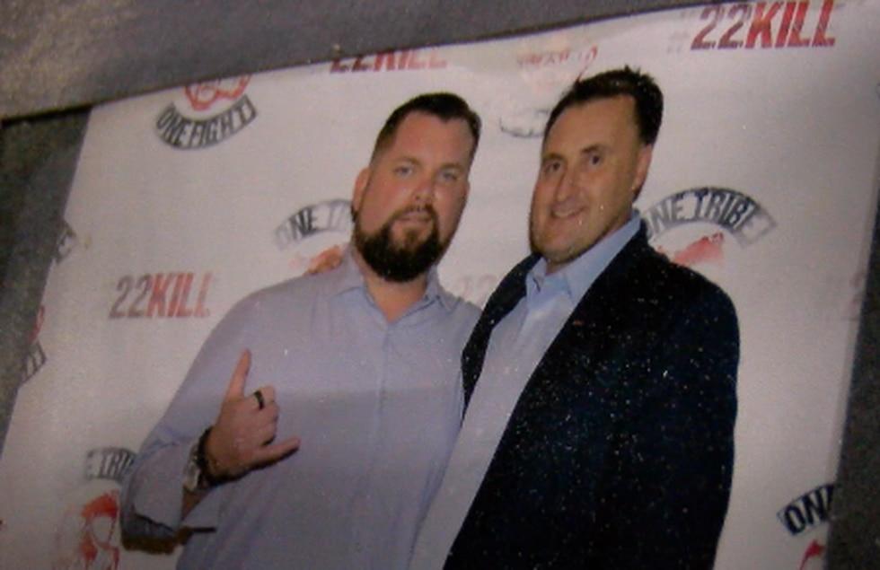 22Kill founder Jacob Schick with good friend Shayne McGinty.