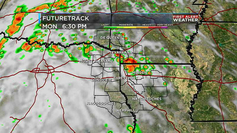 Scattered wet weather continues through the evening and week