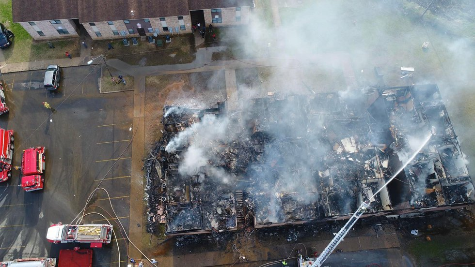 """Images that KSLA News 12 viewer Quinton """"QD"""" Montgomery captured with a drone show the..."""