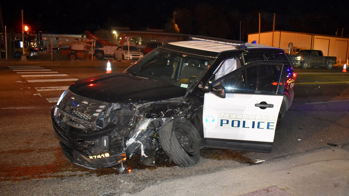 An officer with the Texarkana Texas Police Department was injured in a wreck on Tuesday, Sept....