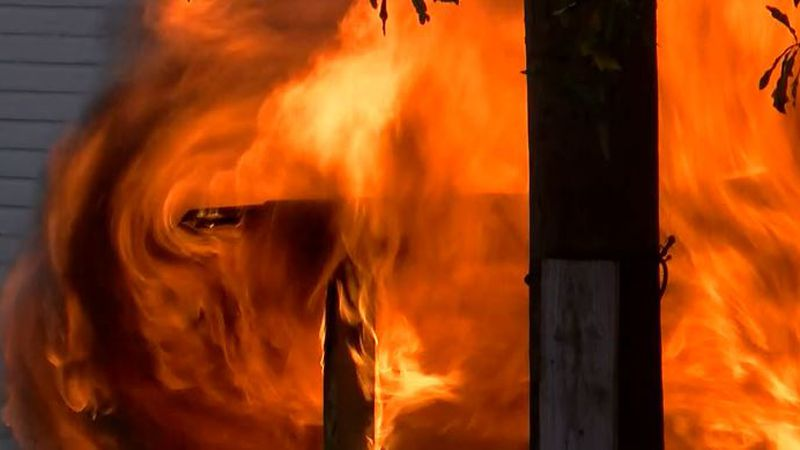 A neighbor and a police officer saved a woman and her pets from a blaze the morning of Nov. 27...
