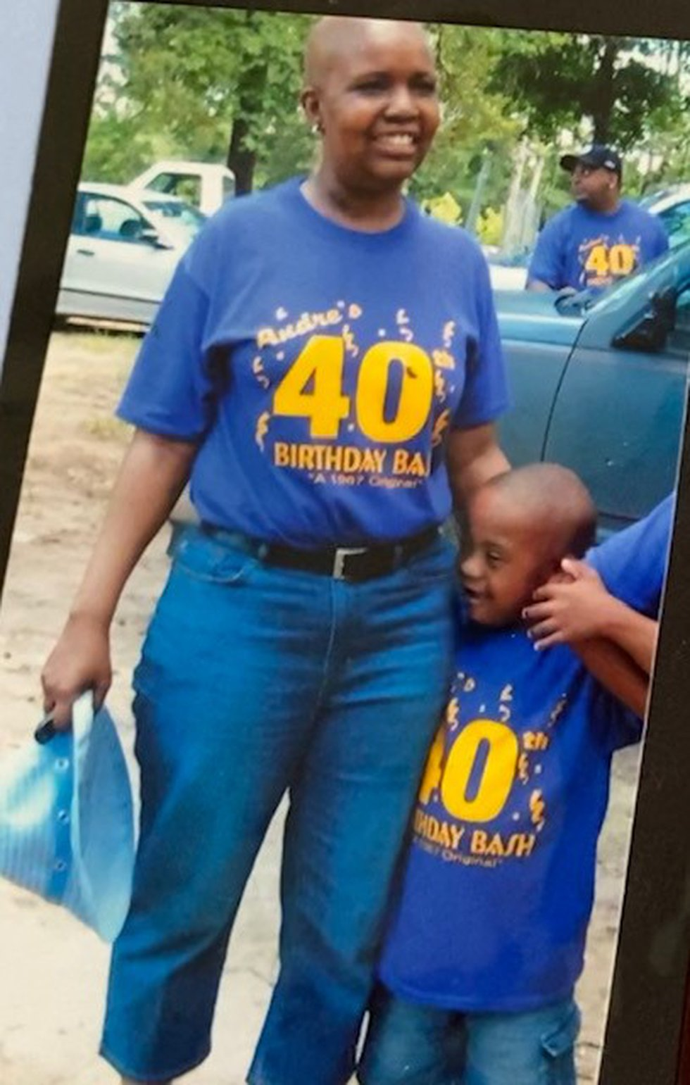 Paul Marshall, Jr with his mother, Latonya, before she died in 2009.