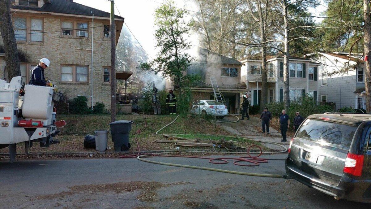 Crews are on scene of a house fire in the 600 block of Merrick Street in Shreveport's Highland...