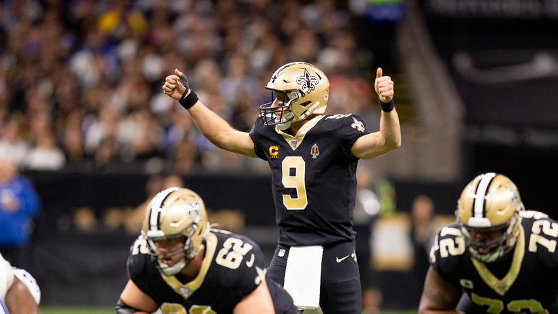 Drew Brees put on a passing clinic against the Colts.