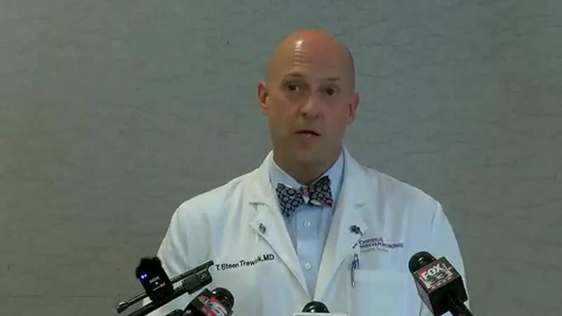 Mayor Perkins, hospital leaders address steep rise in COVID 19 hospitalizations