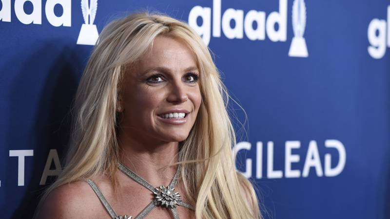 FILE - Britney Spears arrives at the 29th annual GLAAD Media Awards on April 12, 2018, in...
