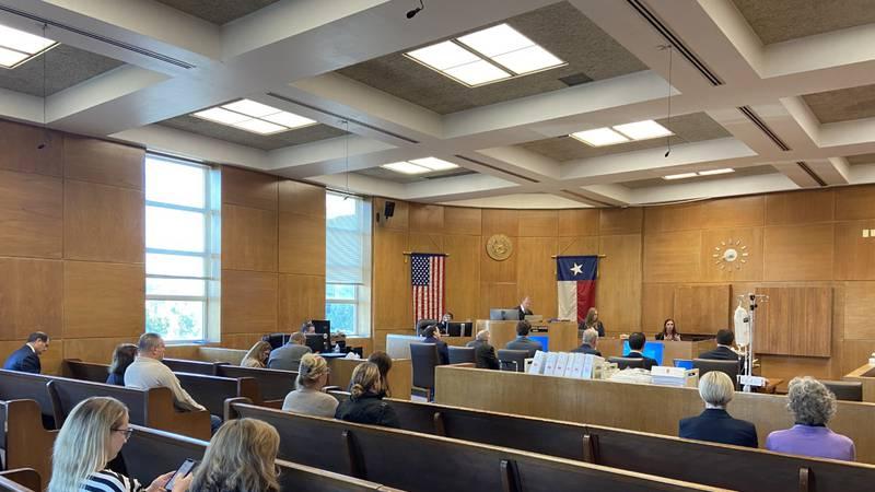 Courtroom at William Davis trial