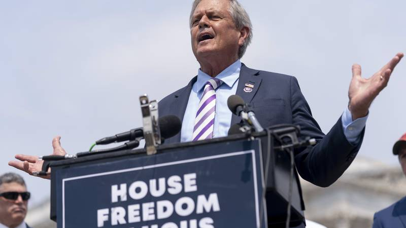 Rep. Ralph Norman, R-S.C., speaks at a news conference held by members of the House Freedom...