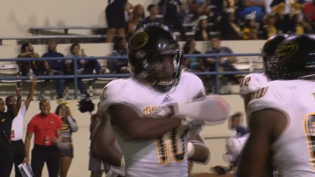 The Grambling State University football team stepped into the win column on Saturday evening as...