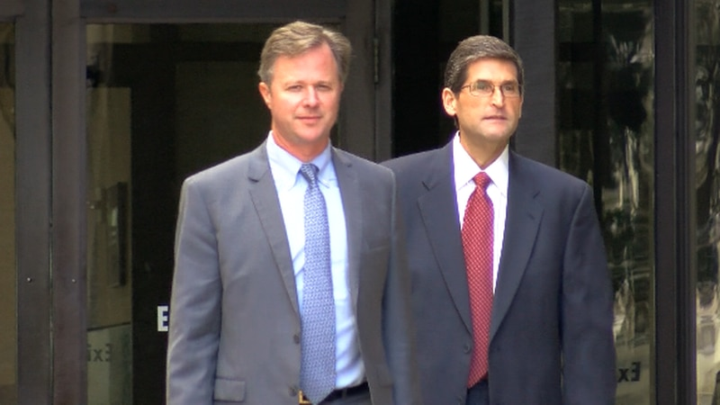 Former St. Tammany Sheriff Jack Strain leaves federal court after being arraigned on a 16-count...