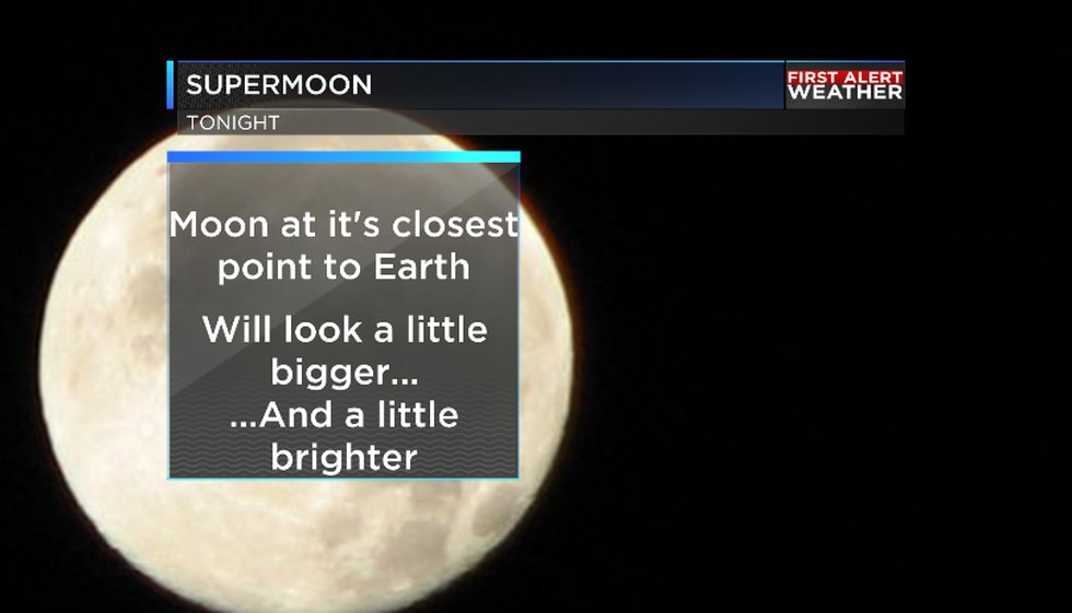 The moon will appear bigger and brighter tonight