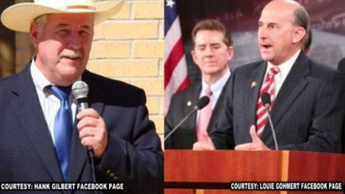 U.S. Rep. Louie Gohmert Jr., a Republican, faces Democratic opponent Hank Gilbert in the polls...