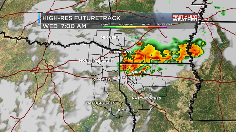 We are tracking locally heavy rain this morning as a line of storms heads south through the...