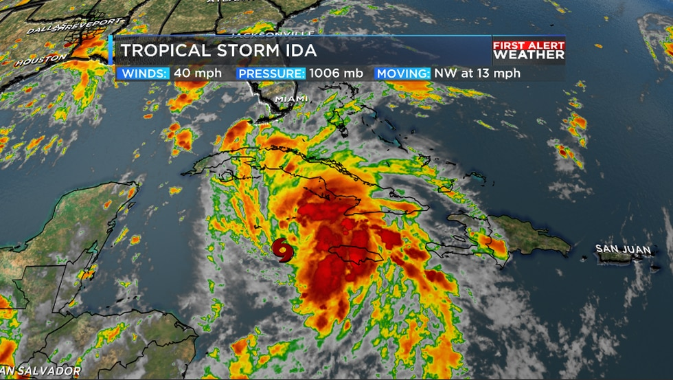 Ida is a minimal tropical storm in the Caribbean