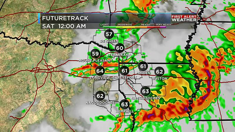 Strong overnight storms