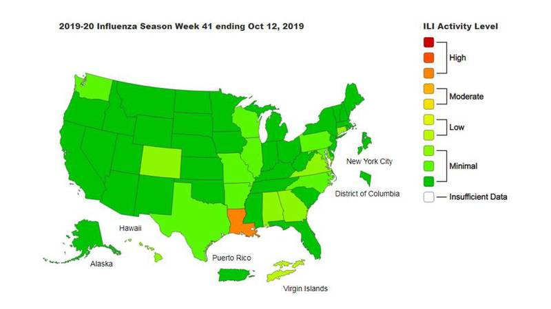 According to a recent report, the CDC says Louisiana is leading Region 6 with the most reported...