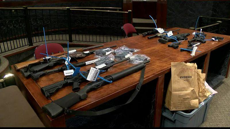 Law officers arrest 58 people, seize 47 guns in Shreveport