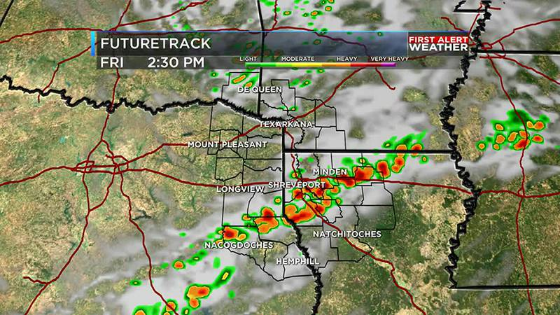 Strong storms move through ArkLaTex Friday afternoon