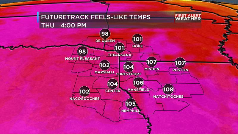 Feel like temperatures will be in the triple digits