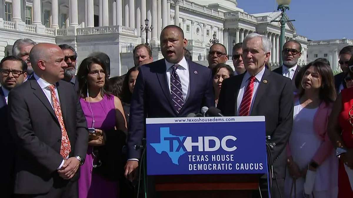A group of Texas Democratic lawmakers left Texas for Washington, D.C. on Monday, July 12, 2021...