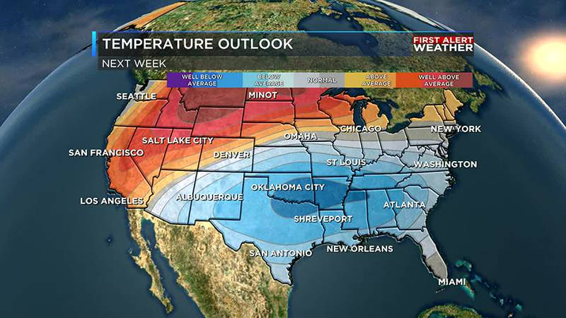 Some relief in the heat will arrive next week