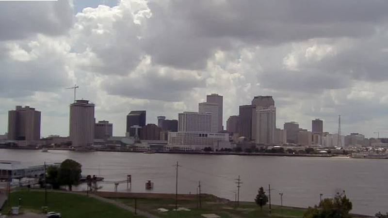 Mississippi River from Algiers August 10, 2019.