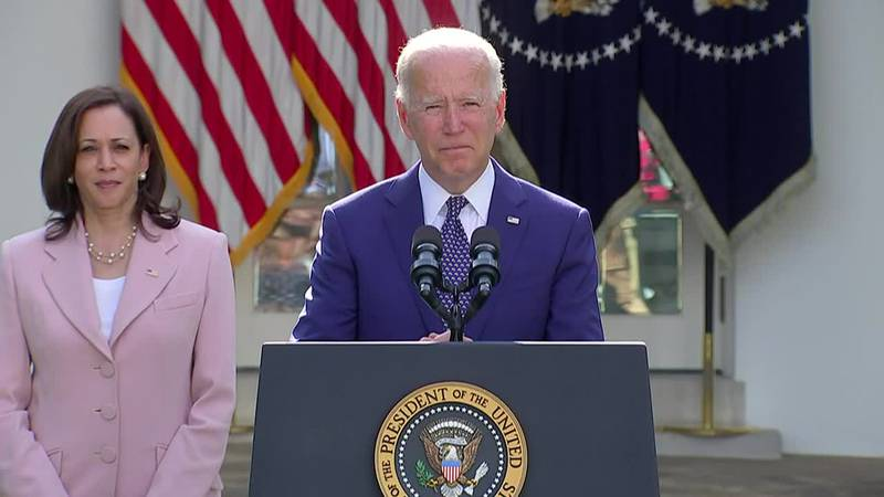 """President Joe Biden says """"May their souls rest in peace and rise in glory."""""""