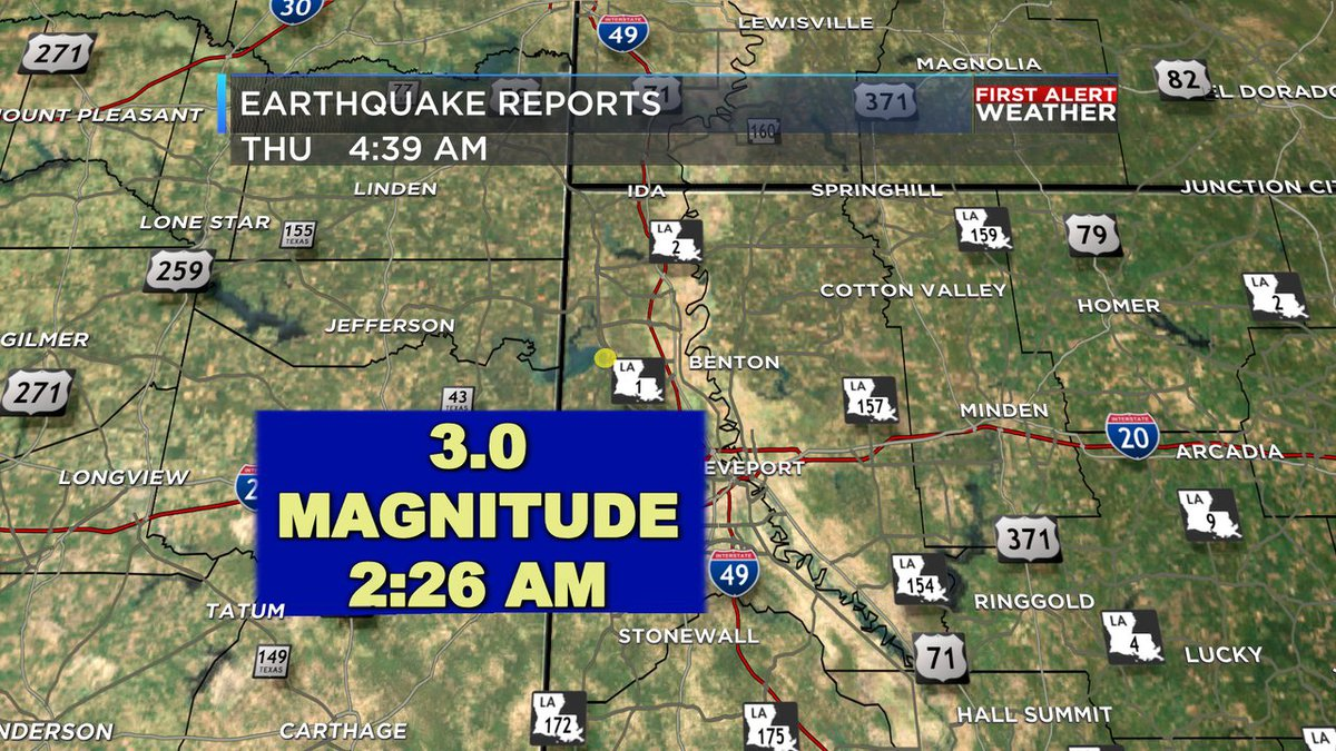 An earthquake was detected in Caddo Parish on the morning of Thursday, April 1.