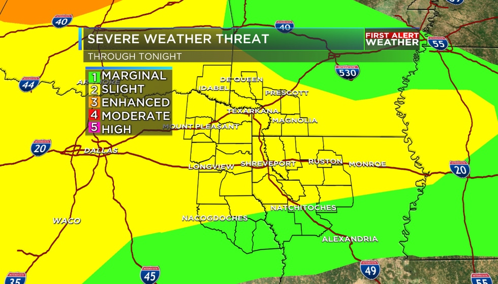 Latest severe weather outlook through Tuesday night